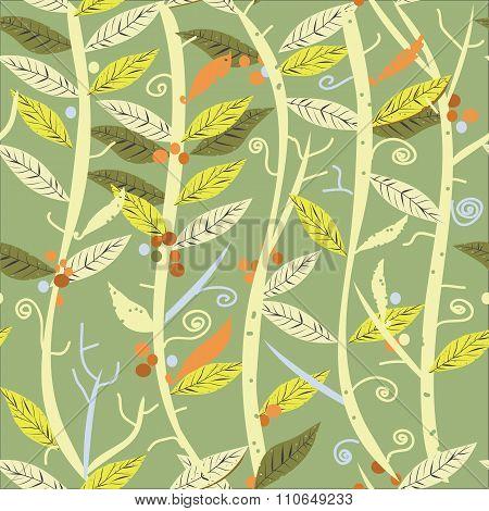 Plants Seamless Pattern