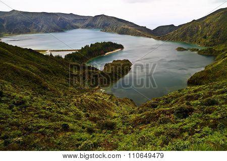 Lake Lagoa Do Fogo, Sao Miguel Azores