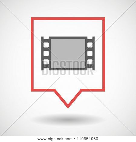 Isolated Tooltip Line Art Icon With A Film Photogram