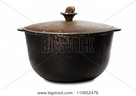 Old Black Dirty Pot