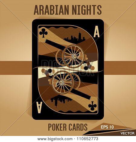 Arabian Nights - Poker Cards - Ace