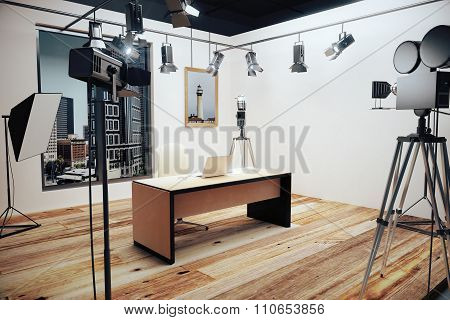Decoration For Movie Filming With Vintage Cameras