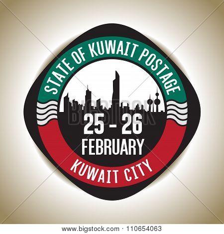 State Of Kuwait Anniversary Postage