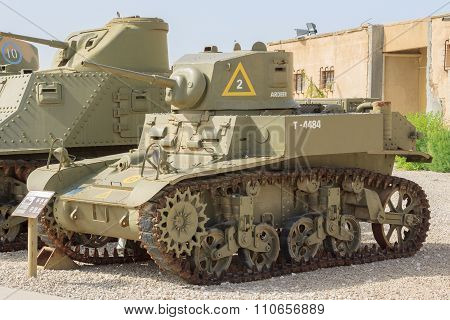Latrun, Israel - April 02, 2010: M3-a1 In Yad La-shiryon