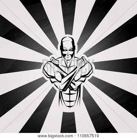 Bodybuilder Fitness  Symbol