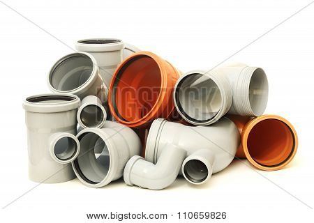 Composition from plastic pipes