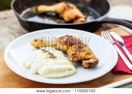 Chicken And Cauliflower Puree