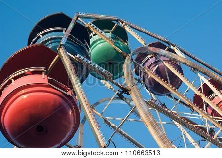 amusement park ferris wheel evening