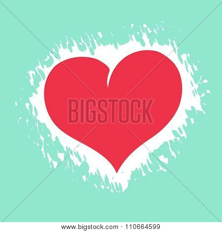 Valentines day postcard with heart