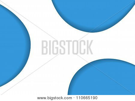 Very Simple Background With 3 Embossed Blue Shapes