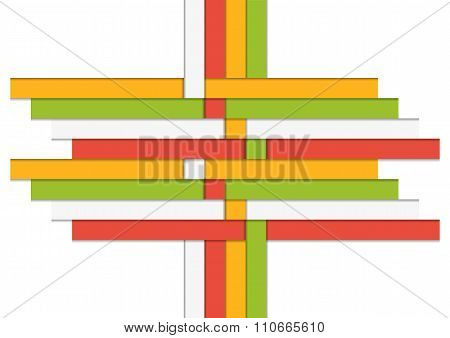 Iinfographic Template Made Of Isolated Colorful Stripes