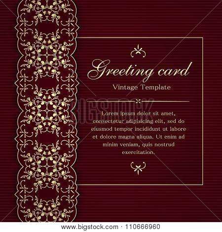 Invitation or greeting card template.