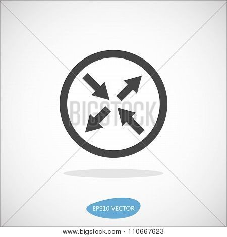 Router Icon - Isolated Vector Illustration