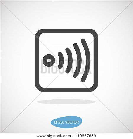 Wireless Device Icon - Isolated Vector Illustration