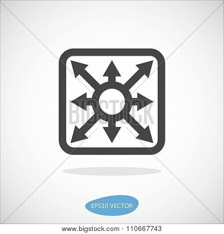 Multilayer Switch Icon - Isolated Vector Illustration