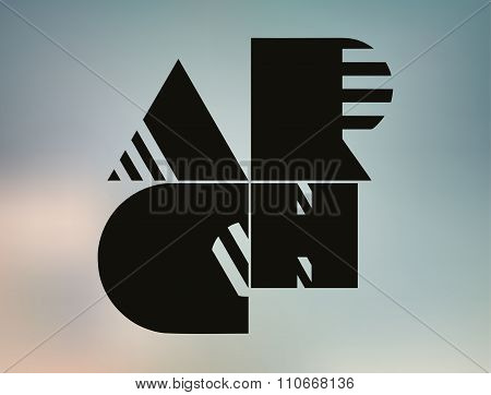 Detailed Abstract Background. Blur Backdrop With Black Font