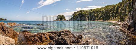 Panorama Of The Sea Landscape, Bay Telyakovsky Island Languishing Heart, Far East, Russia