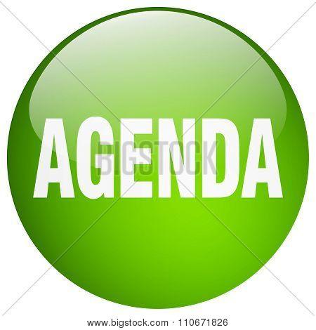 Agenda Green Round Gel Isolated Push Button