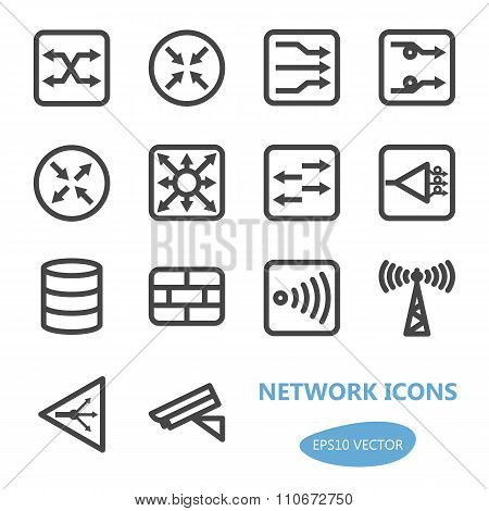 Network Devices Icon Set