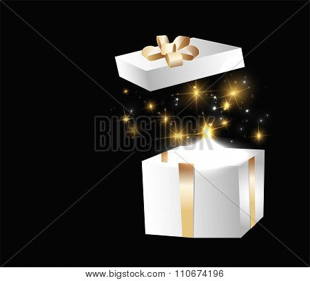 vector gift box with lights