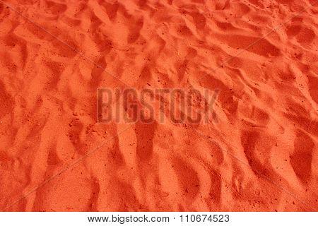 Red Sand In The Desert