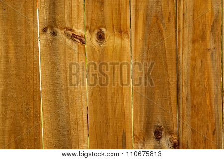 Wooden Slats Of Fence