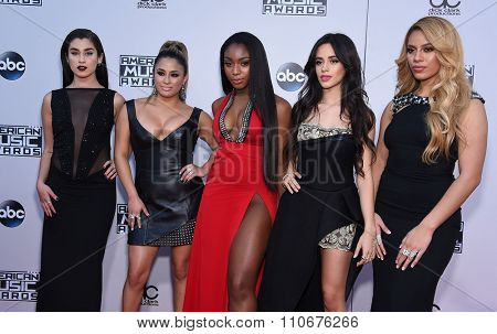 LOS ANGELES - NOV 22:  Fifth Harmony arrives to the American Music Awards 2015  on November 22, 2015 in Los Angeles, CA.