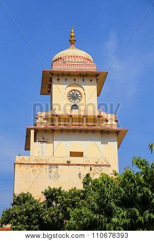 Clock Tower In City Palace, Jaipur, India