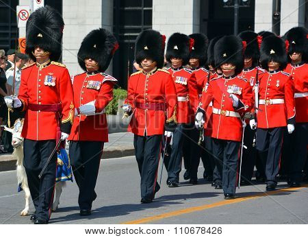Parade of soldier