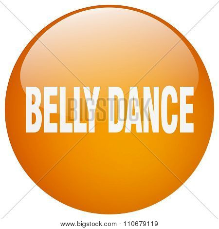 Belly Dance Orange Round Gel Isolated Push Button