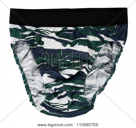 Camouflage briefs underpants