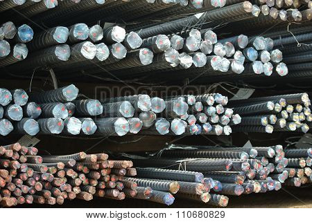 Hot rolled deformed steel bars a.k.a. steel reinforcement bar