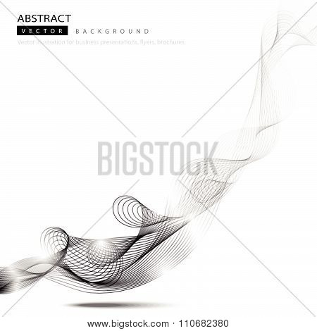 Abstract Background Monochrome Curve
