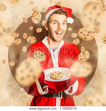 Christmas Cooking Elf With Cookies Treats