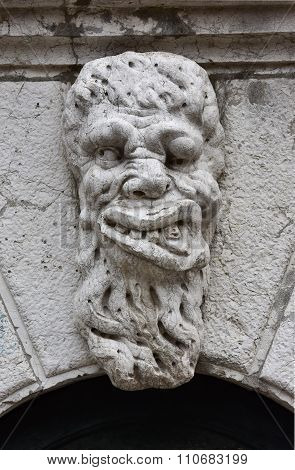 Grotesque Monster Head In Venice