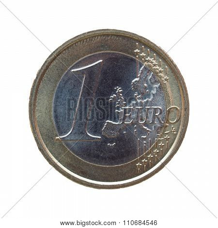 One Euro (eur) Coin Form San Marino
