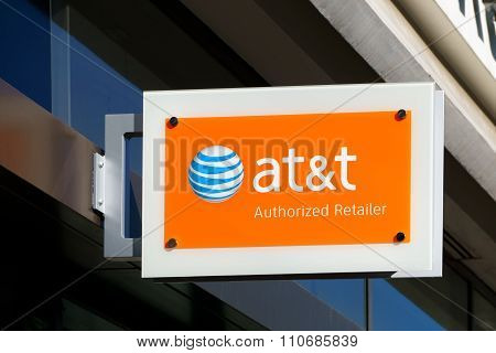 At&t Authorized Retailer Store Exterior And Sign