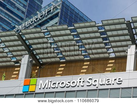Microsoft Square Logo At L.a. Live