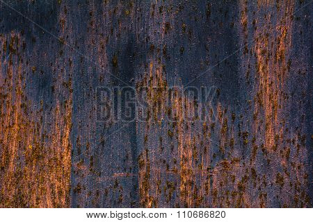 Detailed structure of rusty metal
