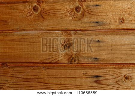 Lacquered Old Pine Boards Background.