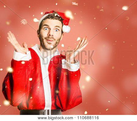 Little Santa Helper Spreading Christmas Cheer
