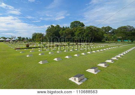 Labuan War Cemetery is about two miles (3.2 km) from Victoria