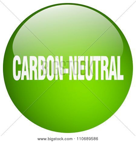 Carbon-neutral Green Round Gel Isolated Push Button