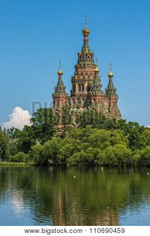 Cathedral Of Saints Peter And Paul In Petergof, Saint Petersburg, Russia