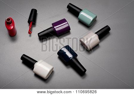 Collection Of Various Nail Polish