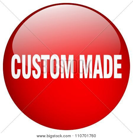 Custom Made Red Round Gel Isolated Push Button