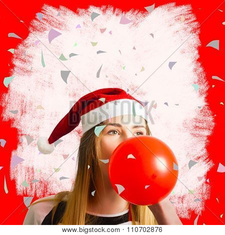 Party Planning Santa Girl At Christmas Event