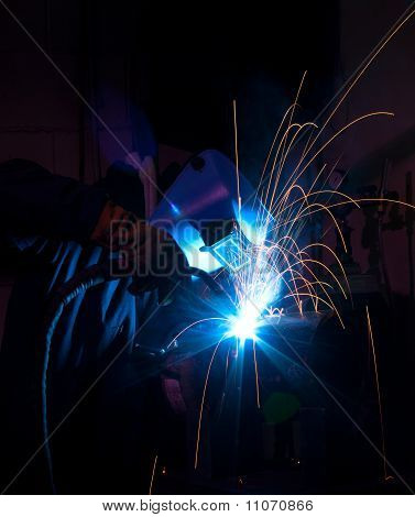 Mig Welder With Bright Light
