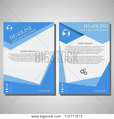 Vector Brochure Flyer Design Layout Template, Size A4, Front Page And Back Page, Infographics Eps 10