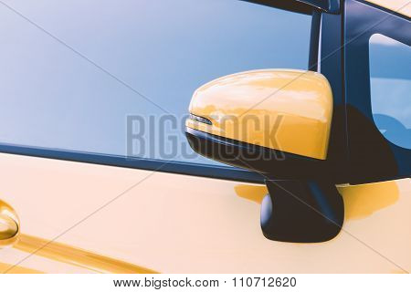 Side Rear-view Mirror Closed For Safety